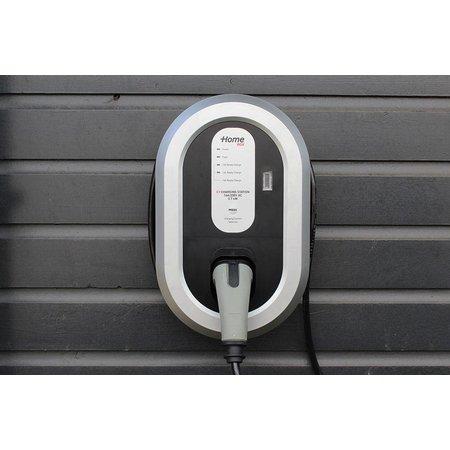 Ratio EV Home Box Plus Laadstation type 2, 1 fase 16A met 10 meter vaste rechte laadkabel + KWh meter