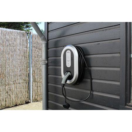 Ratio EV Home Box Laadstation type 2, 3 fase 16A met 5 meter vaste rechte laadkabel - 10 meter