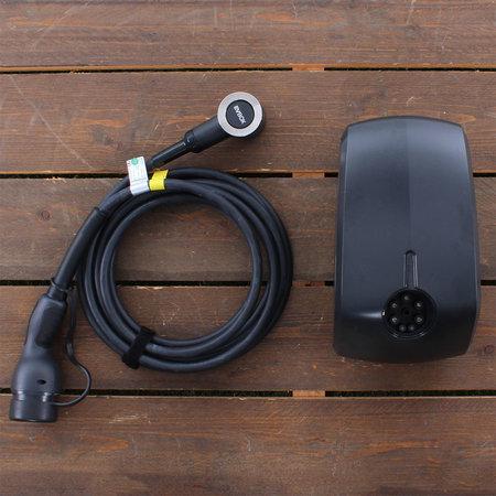 EVBox Elvi 3-fase 32A 22kW Type 2 kabel 6m Wi-Fi Zwart