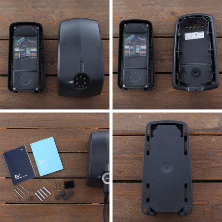 EVBox Elvi 1-fase 32A 7.4kW Type 2 kabel 6m Wi-Fi Zwart