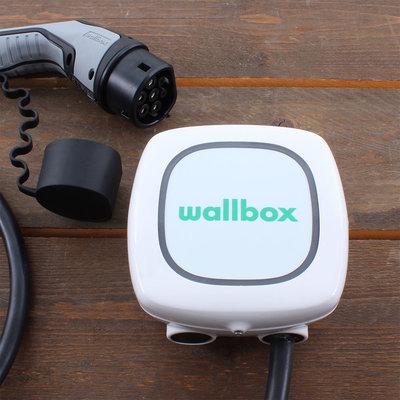 Wallbox Pulsar Plus 22 kW - EV Laadstation Zwart type 2 met 7m vaste rechte laadkabel - Wit
