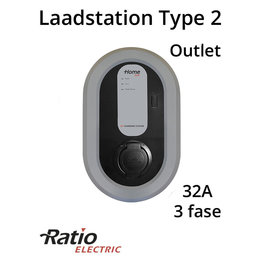 Ratio EV Home Box Laadstation type 2 Outlet 3 fase 32A
