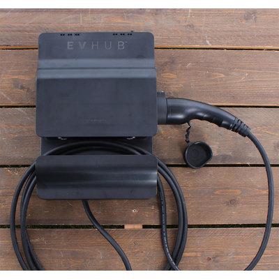 EVHUB Laadstation type 1, 16A, 1 fase, rechte laadkabel - Zwart