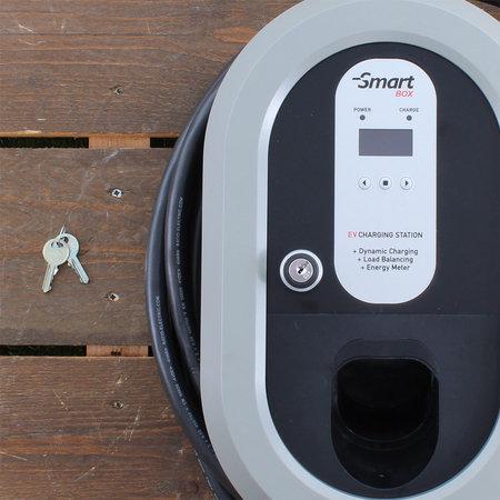 Ratio Home Box Smart 32A 3 fase + 5 meter laadkabel type 2 + KWh meter + Sleutelvergrendeling