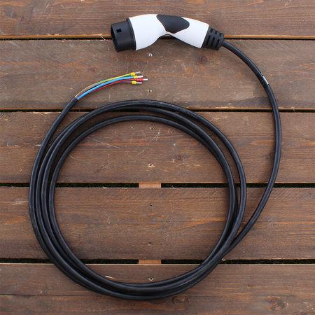 Alfen  Eve Single S-line - 3 x 16A - Grijs - 5 meter kabel type 2 - Copy