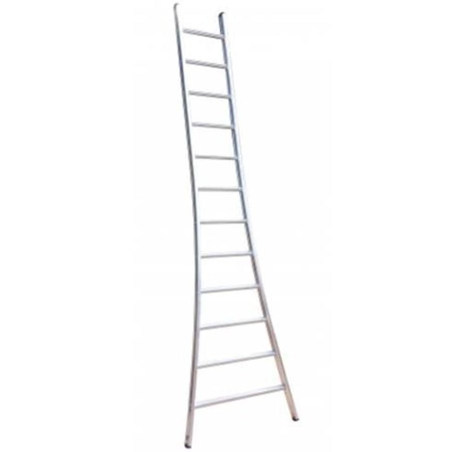 Enkele ladder uitgebogen 1x18