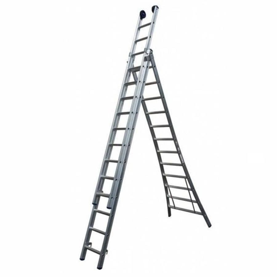MAXALL driedelige reformladder 3x7-1
