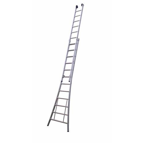 MAXALL tweedelige ladder 2x18 met toprollen
