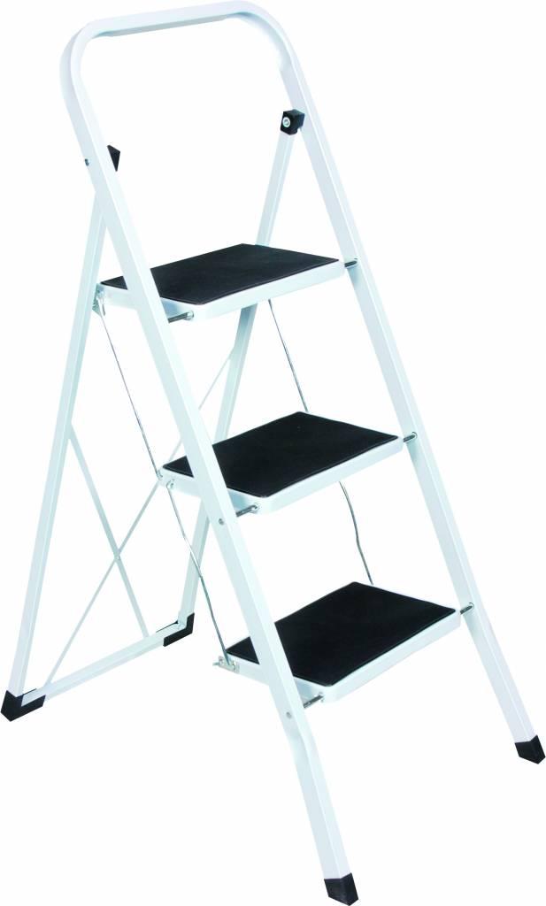 Geliefde ESCALO Keukentrap wit 3 treden - Ladderzaak.nl HV69