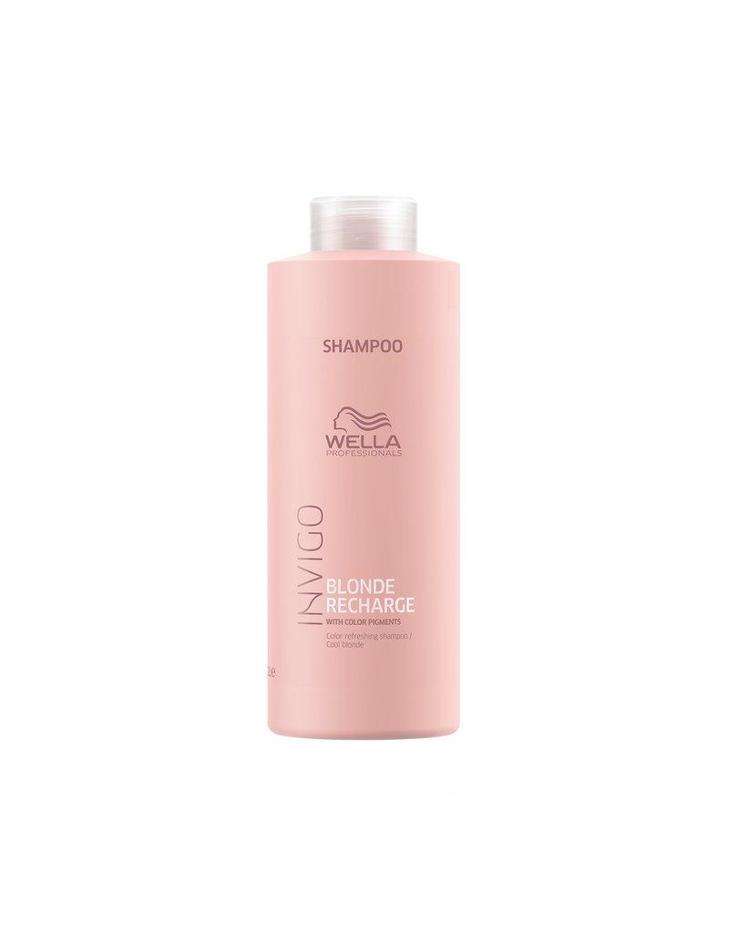 Wella INVIGO Blonde Recharge Cool Blonde Farbauffrischendes Shampoo 1000ml