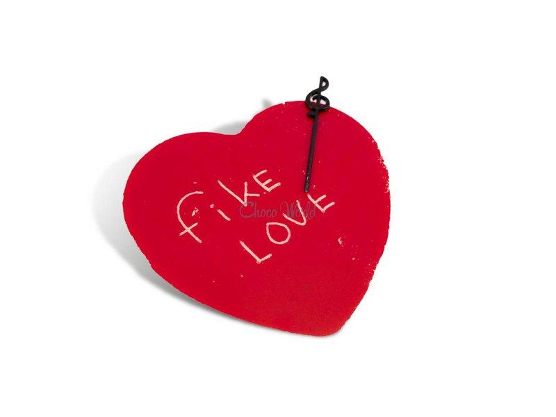 Chocolade hart rood klein
