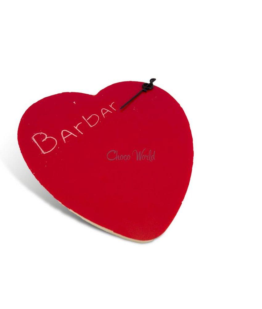 Chocolade hart rood kingsize