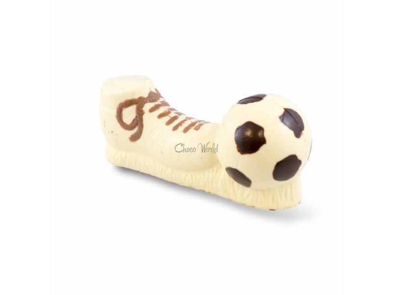 Voetbalschoen met bal