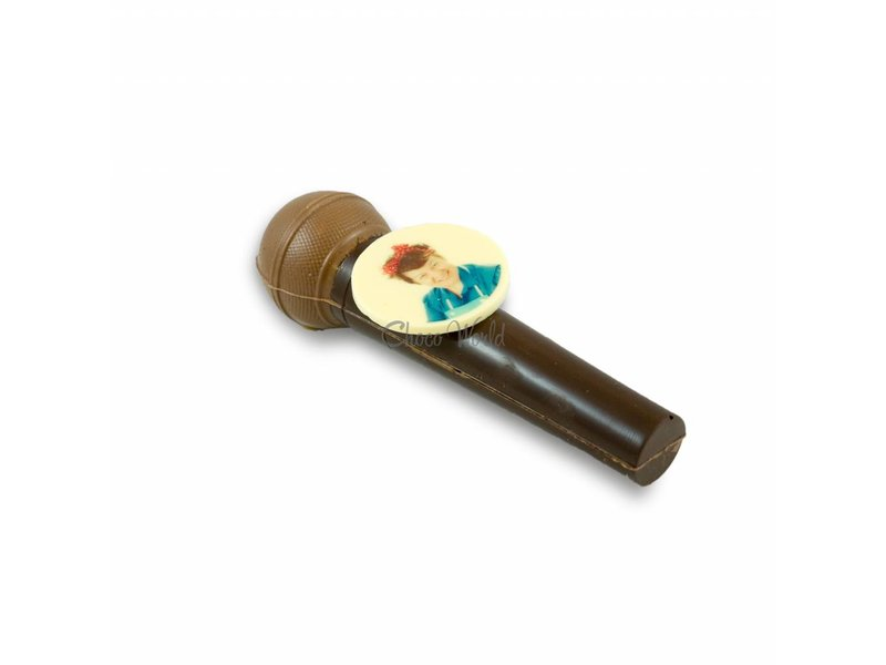 Chocolade Microfoon met foto of logo
