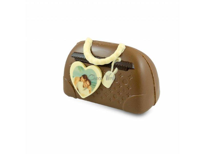 Chocolade Handtas Tas met foto