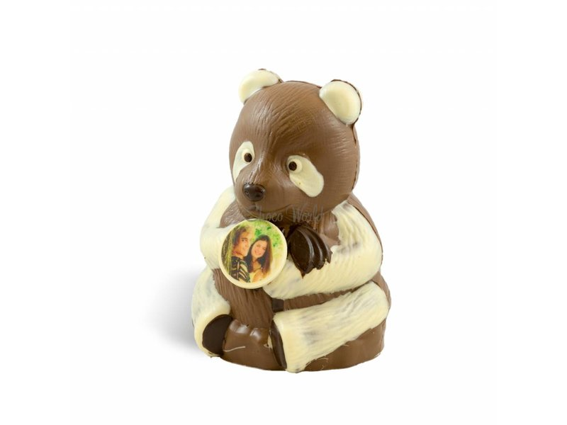 Chocolade Panda Beer met foto