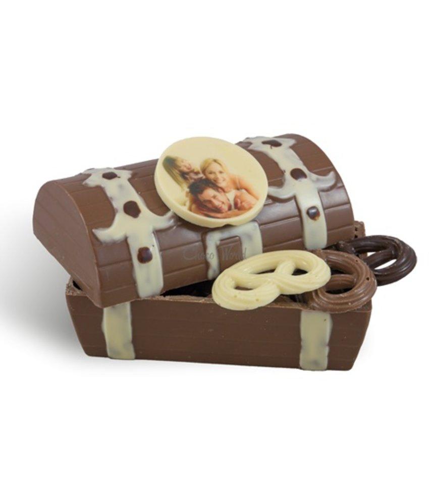 Schatkist fotorondje met chocolaatjes