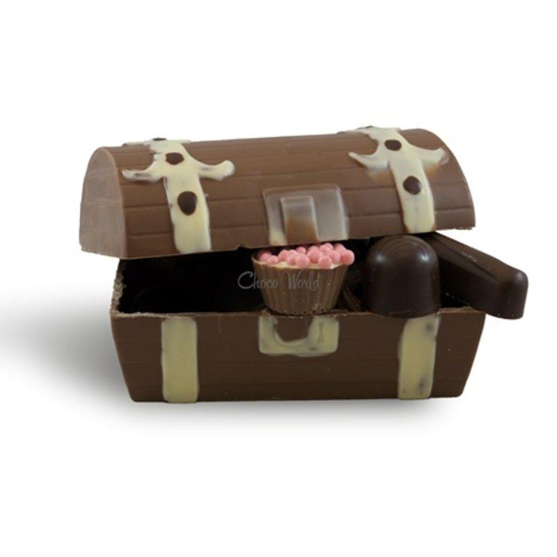 Schatkist met slagroom bonbons
