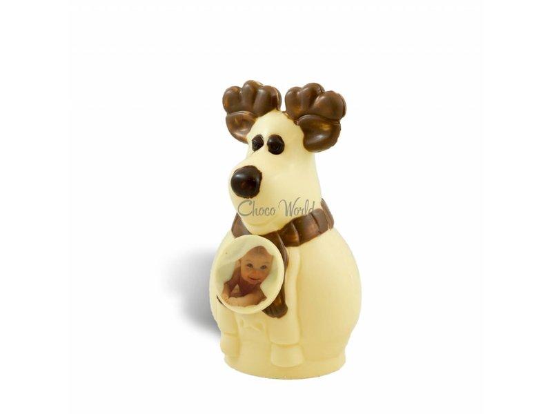 Chocolade Rendier Rudolf met foto