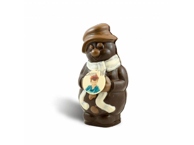 Chocolade Sneeuwpop met foto