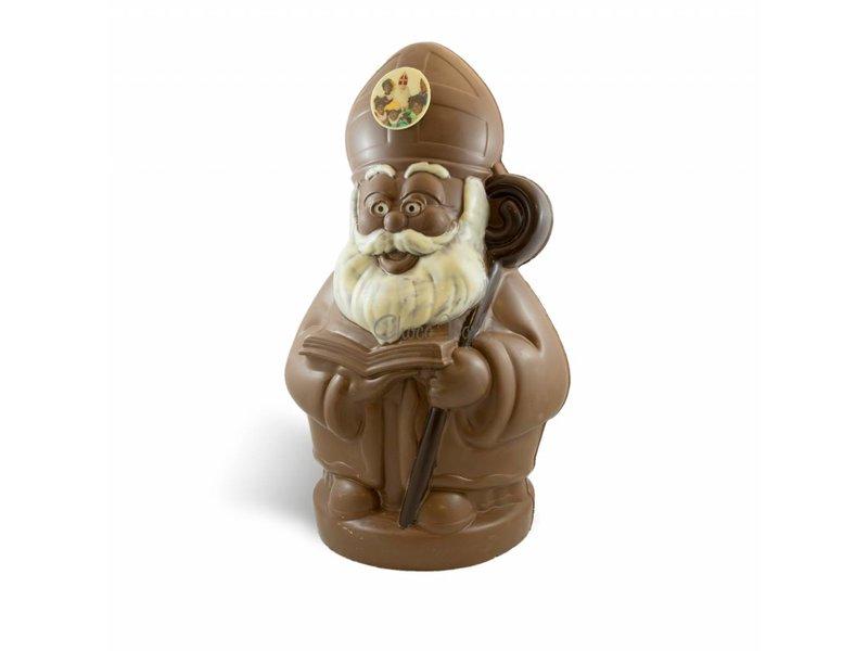 Chocolade Sint Nicolaas middel met foto