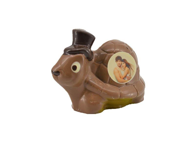 Chocolade schildpad met foto
