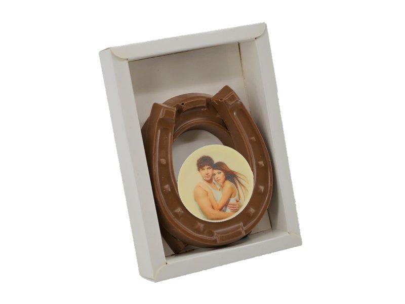 Chocolade hoefijzers met foto