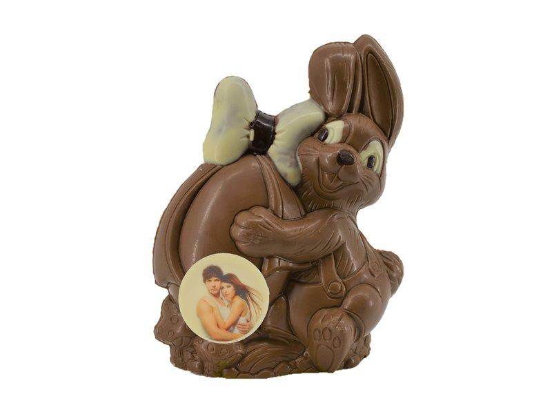 Chocolade paashaasje met foto