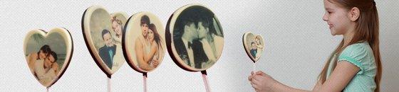 Lollies met Foto of Logo