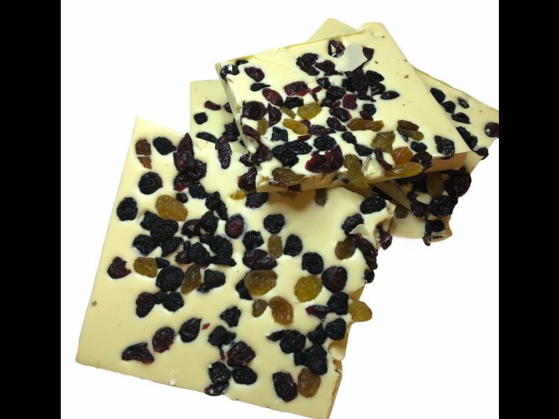 Breekchocolade Cranberrie Rozijnen