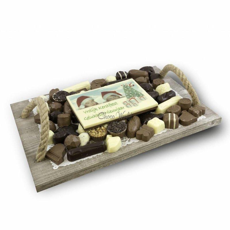 Slagroom Bonbons Assortiment Super met Chocolade Kerstkaart
