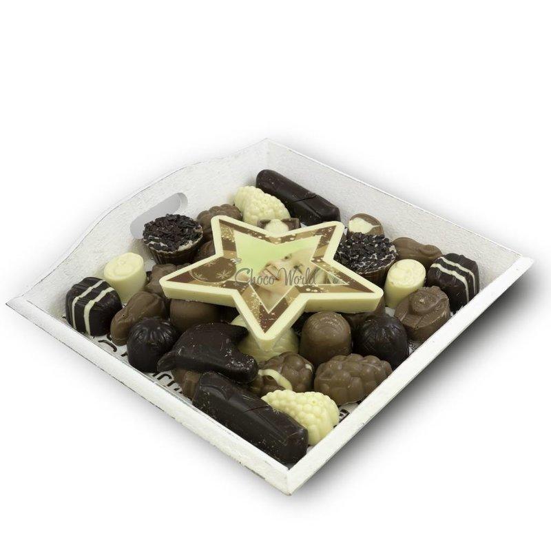 Slagroom Bonbons Assortiment Middel met Chocolade Kerstster