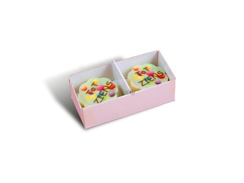Bonbons Wit met Foto/Logo 2 stuks