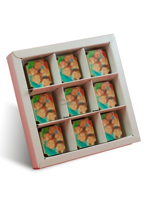 Bonbons Melk met Foto/Logo 9 stuks