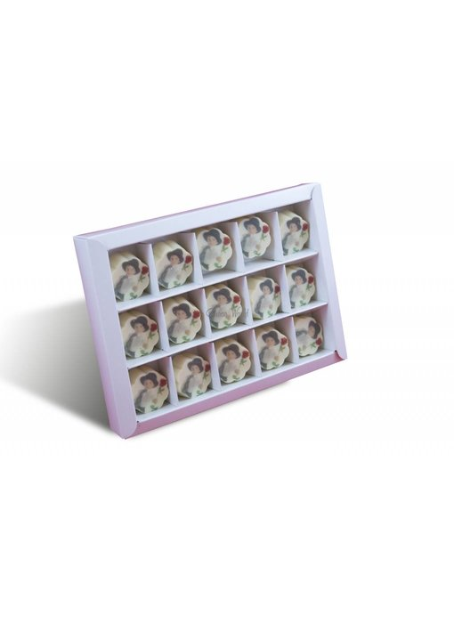 Bonbons Wit met Foto 15 st.