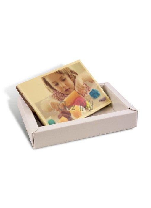 Kleine chocoladekaart met foto