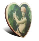 Chocolade hart groot met foto