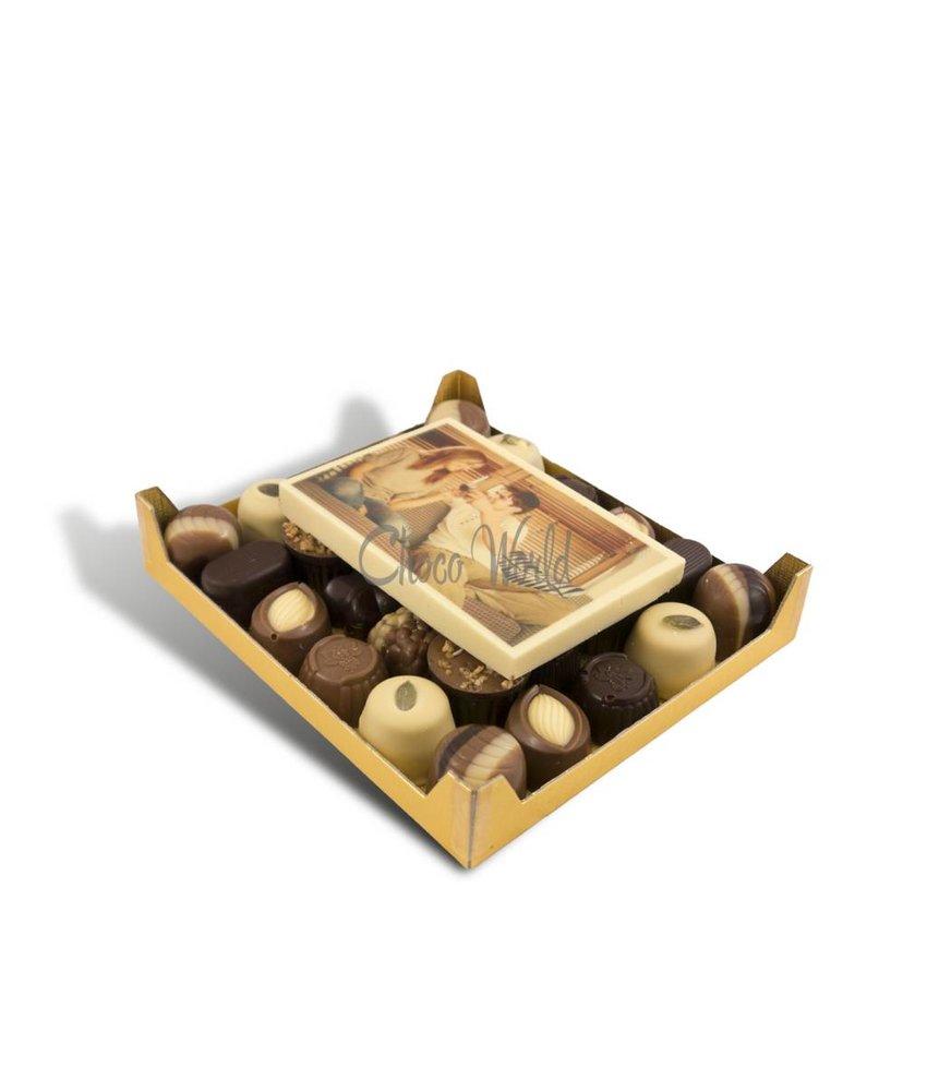 Bonbons Assorti Klein met Kaart Foto/Logo