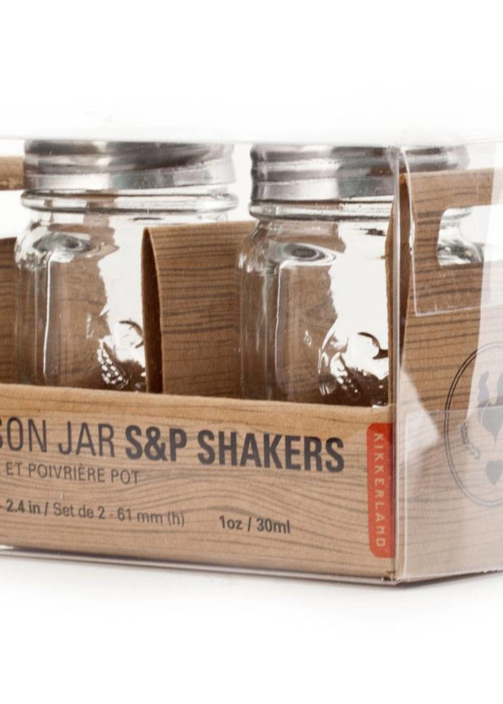 Kikkerland Salt And Pepper Mason Jars