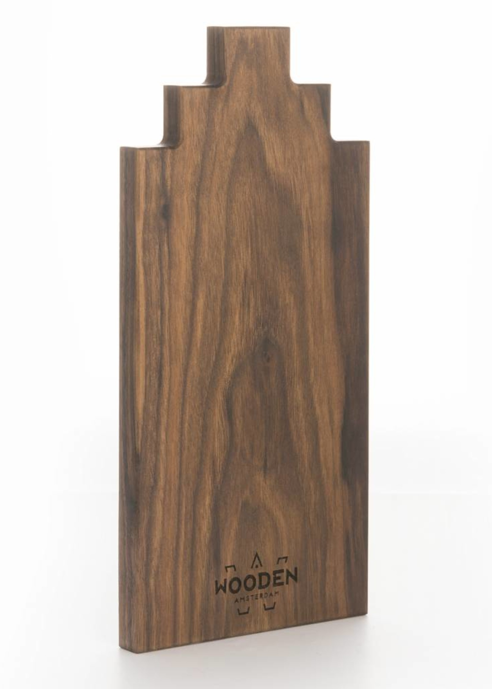 Wooden Amsterdam Serving Board Canal House Shape – Walnut