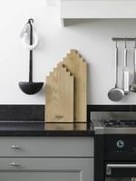 Wooden Amsterdam Serving Board Canal House Shape – Oak