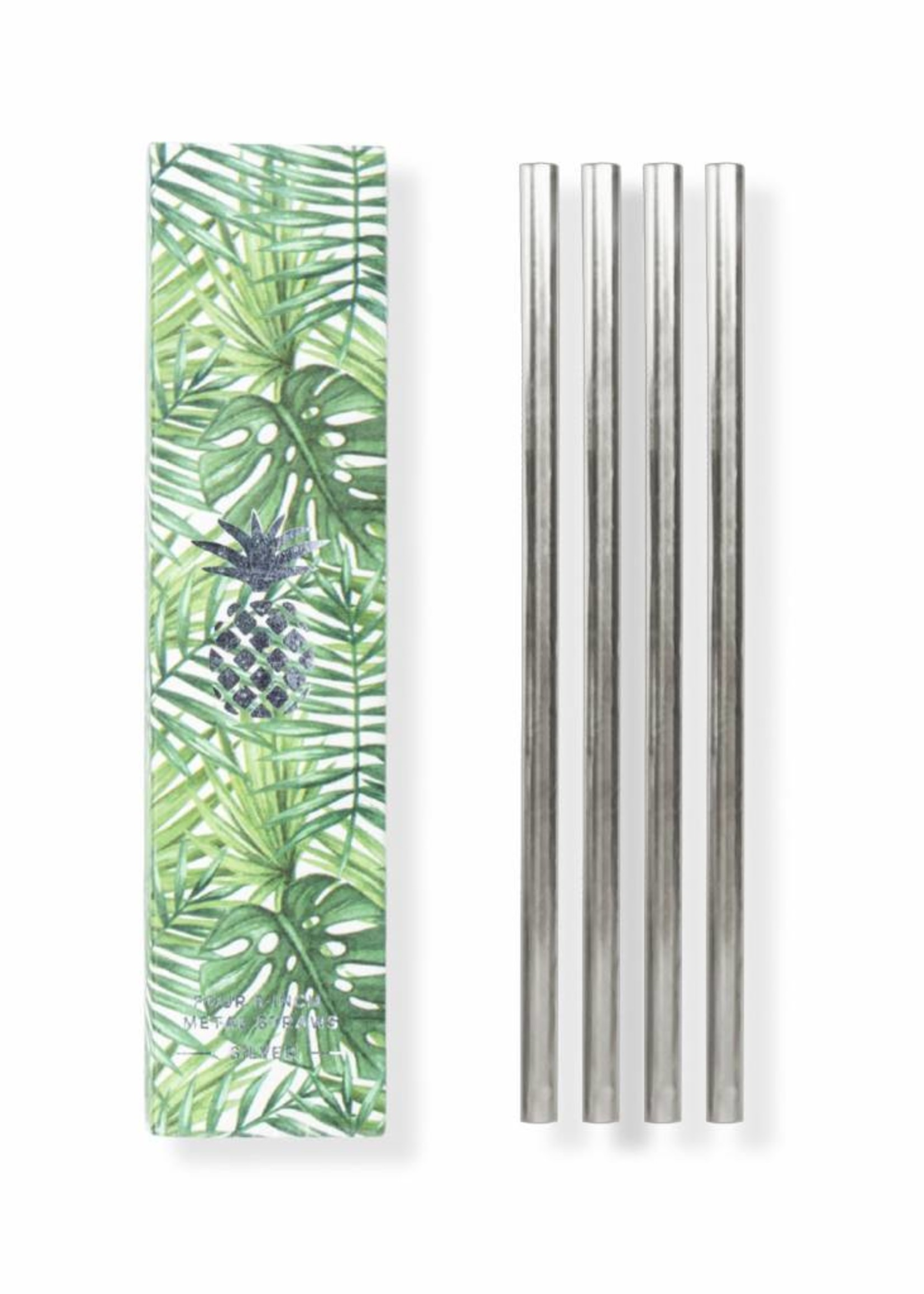 W&P Set of 4 Metal Straws