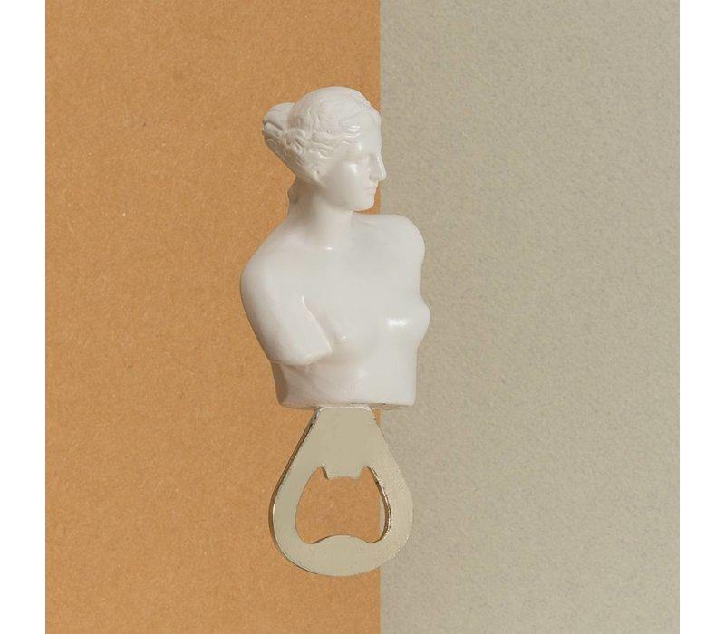 Hestia Borstbeeld flesopener