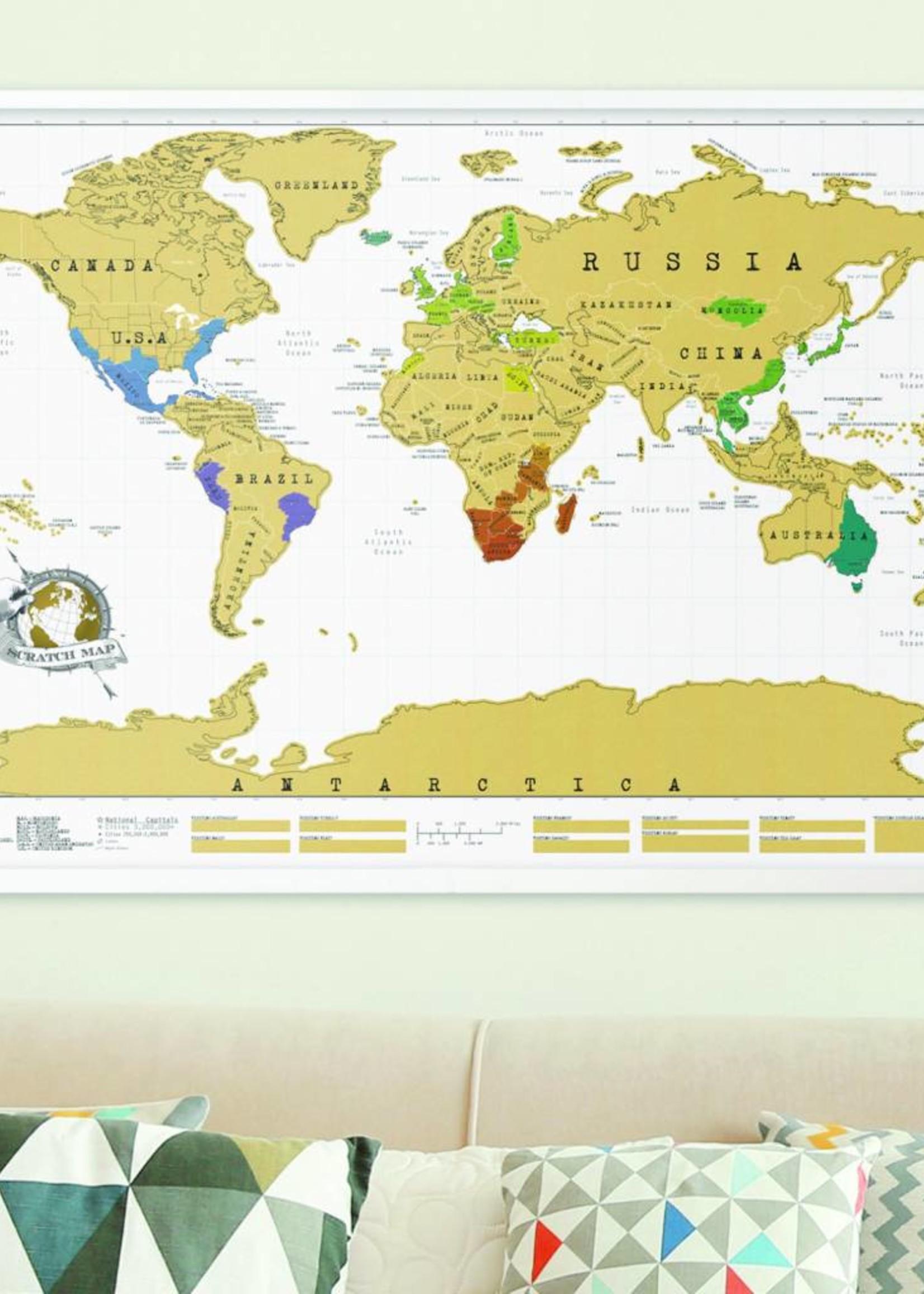 Luckies Ingelijste Scratch Map