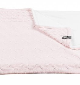 Babys only Baby's only Cable classic roze chenille wieg/ledikantdeken