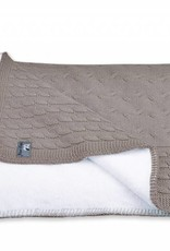 Babys only Babys only cable taupe teddy wieg/ledikantdeken