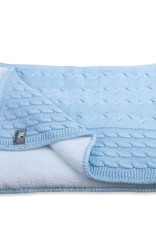 Babys only Baby's only cable baby blauw teddy wieg/ledikantdeken