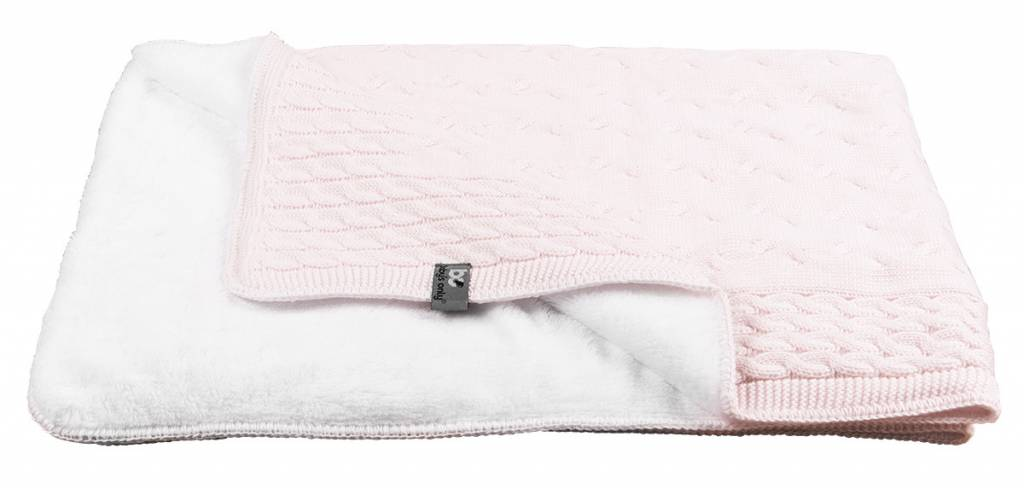 Babys only Baby's only cable teddy classic roze wieg/ledikantdeken