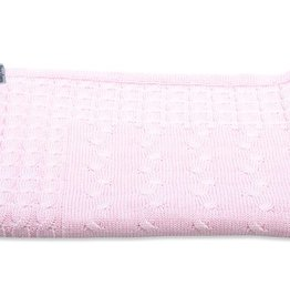 Babys only Baby's only Cable baby roze Wieg/ledikantdeken