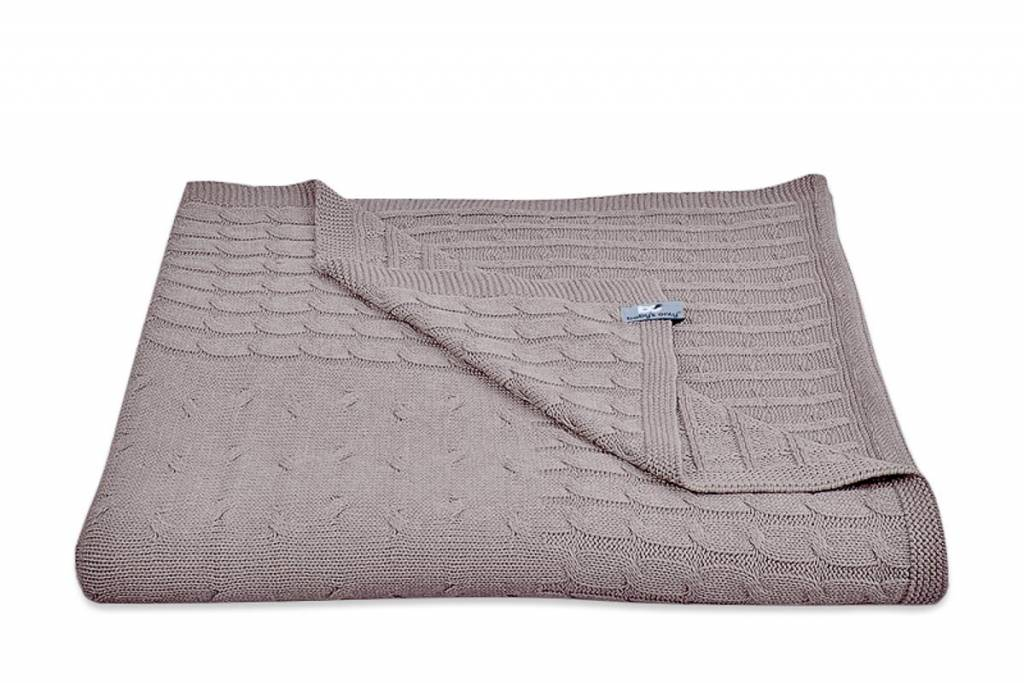 Babys only Baby's only Cable taupe Wieg/ledikantdeken